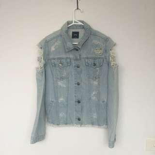 SPORTSGIRL Purpose Ripped Denim Jacket