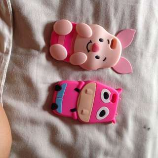 iPhone 5/5s/5c Silicon Cover - Piglet / Cow