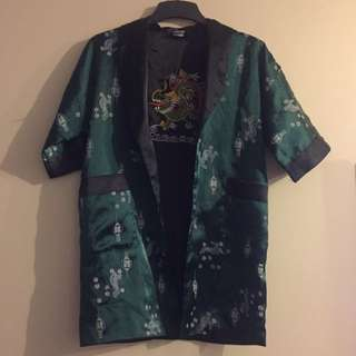 Reversible Mid Length Kimono