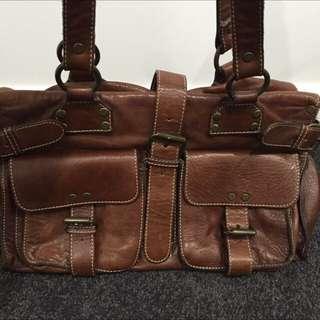 Witchery Handbag Brown Leather