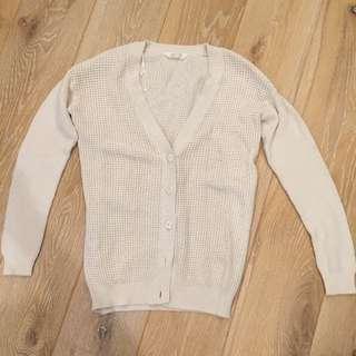Cream Colour Cardigan Size XS