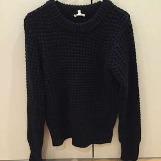 Black Knit Wear Size M