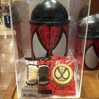 蜘蛛人造型垃圾桶餅乾盒