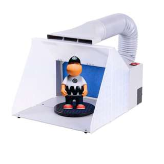 BNP: Portable Ventilation Hobby Airbrush Paint Spray Booth Kit Exhaust Filter Extractor Set Model