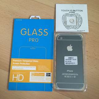 iPhone 5 5S Cover Tempered Glass Screen Protector