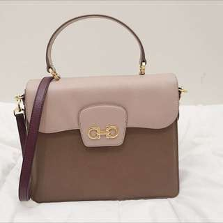 Salvatore Ferragamo Barolo Saffiano Leather Shoulder Bag