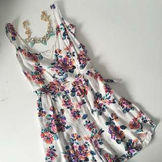 Romper With Tied Knot At The Back