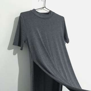 Long t shirt with slits
