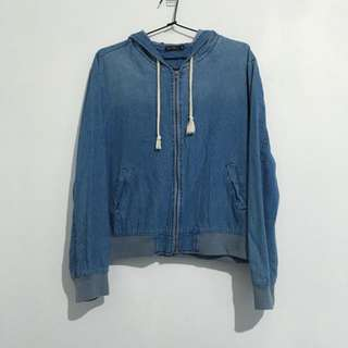 chicabooti cropped denim jacket