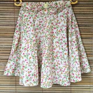 Flare Floral Skirt