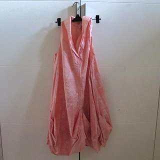 Pink Batik Dress - Kahfiati