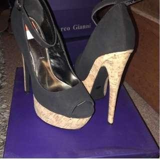 Black & Cork Heels
