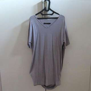 Grey Shirt Dress By Hunting Fields