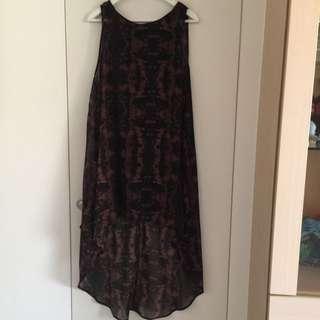 H&M前短後長洋裝