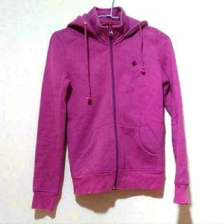 ♣a.m.e紫刷毛外套