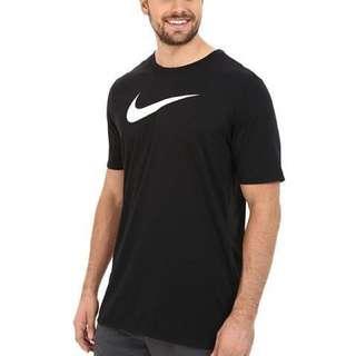 Nike BACKBOARD DROPTAIL 長版 短T 內搭 fly 勾勾 黑白 logo