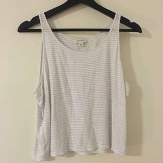 WITCHERY Linen Crop Tee