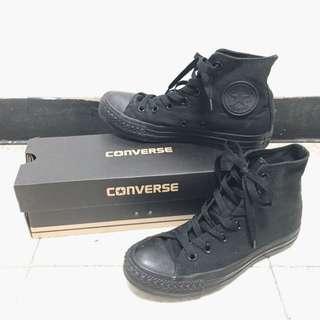 converse 全黑高筒鞋