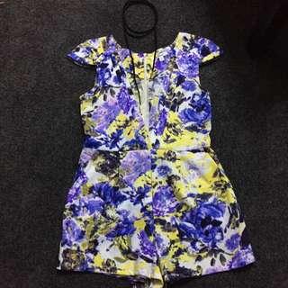 Floral Play Suit Size 10