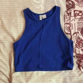 Blue Crop Top H&M