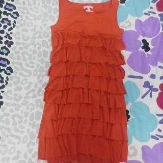 Orange Dress Size S