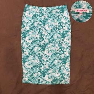 Rok Span Pensil Tosca Bunga / Tosca Pencil Skirt