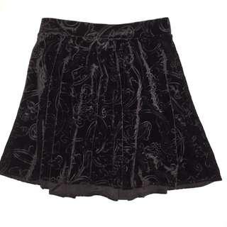 Black Velvet Circle Skirt