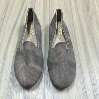 女潑墨棕色軟底便鞋