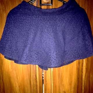Mini Skirt - Navy Blue