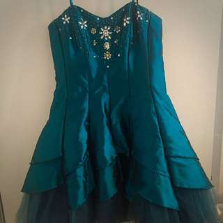 Blue Dress W/ Crystal Detailing