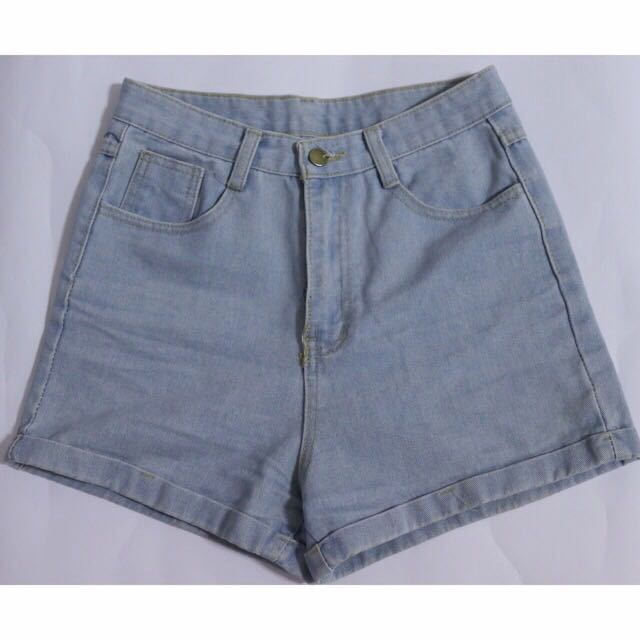 8$ (mailed) HW light blue shorts