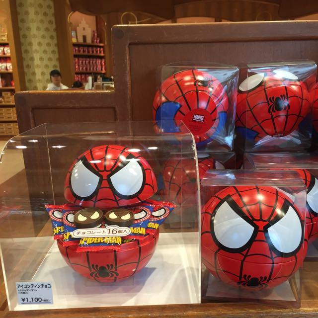 蜘蛛人造型圓球餅乾盒