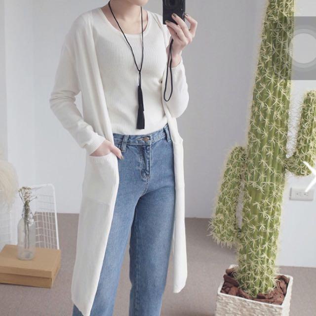 針織白色衫