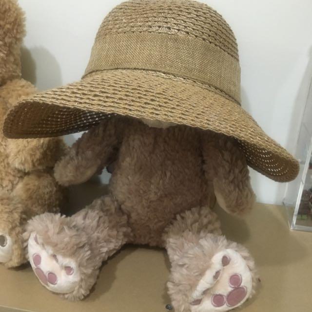 經典不敗款 遮陽草帽 可調頭圍 全新 阪急百貨購入