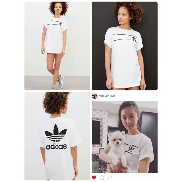 美國 Urban outfitters 獨家款Adidas  Originals Retro logo tee!  雙面款