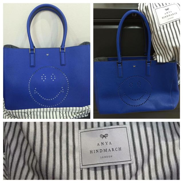 Anya Hindmarch Saffiano Leather Tote