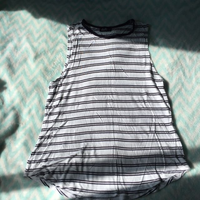 Black And White Muscle Tee