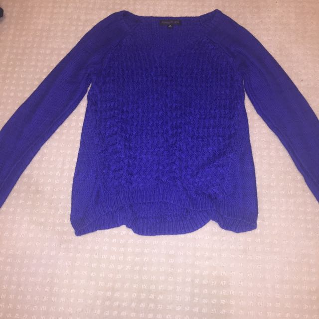 Blue Forever New Jumper (can also be worn off the shoulder)