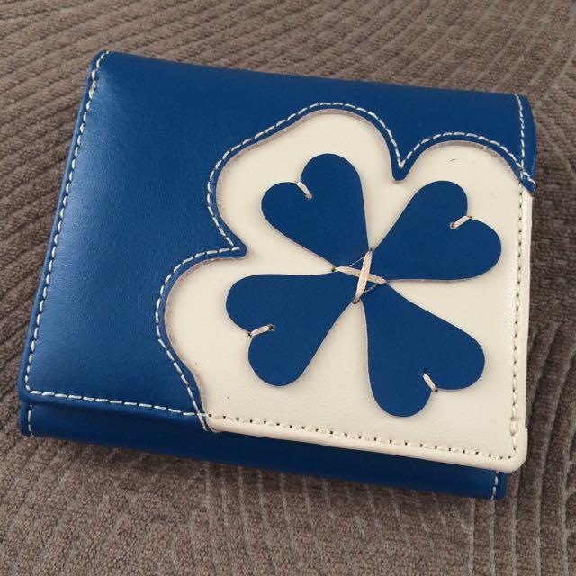 Blue Roberta Viviani Leather Wallet
