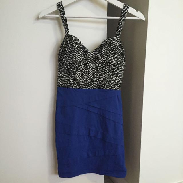 Blue Size 8 Dress