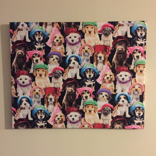 Cat/Dog Print Canvas Set