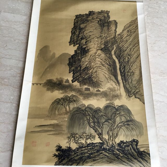 Chinese Scroll Painting 水墨画