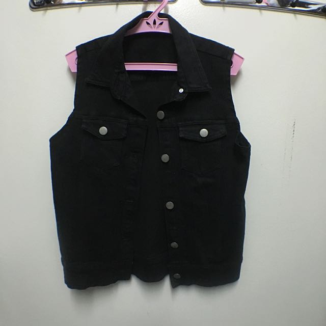 Folded & Hung Short Denim Vest
