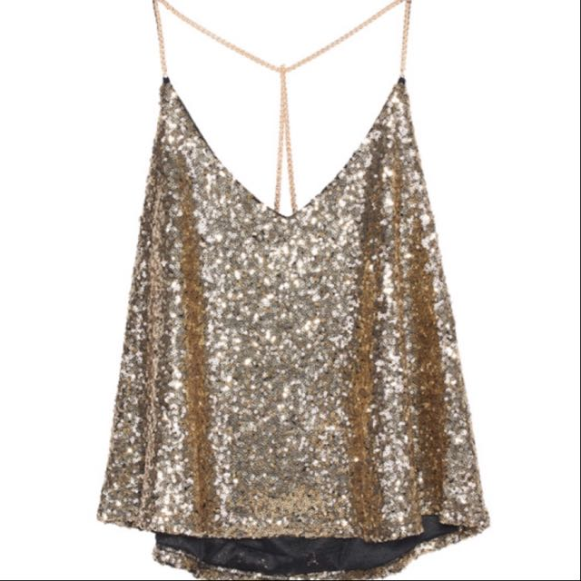 Gold Sequinned Cami