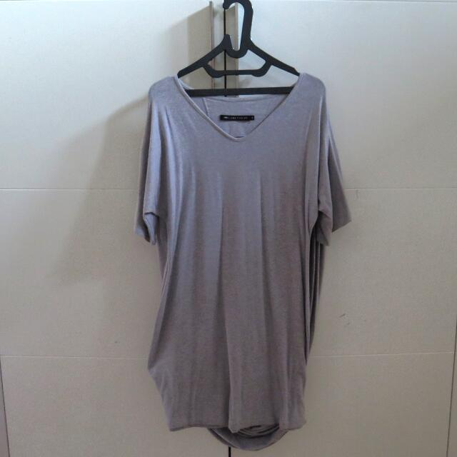 Grey Shirt Dress By Hunting Fields
