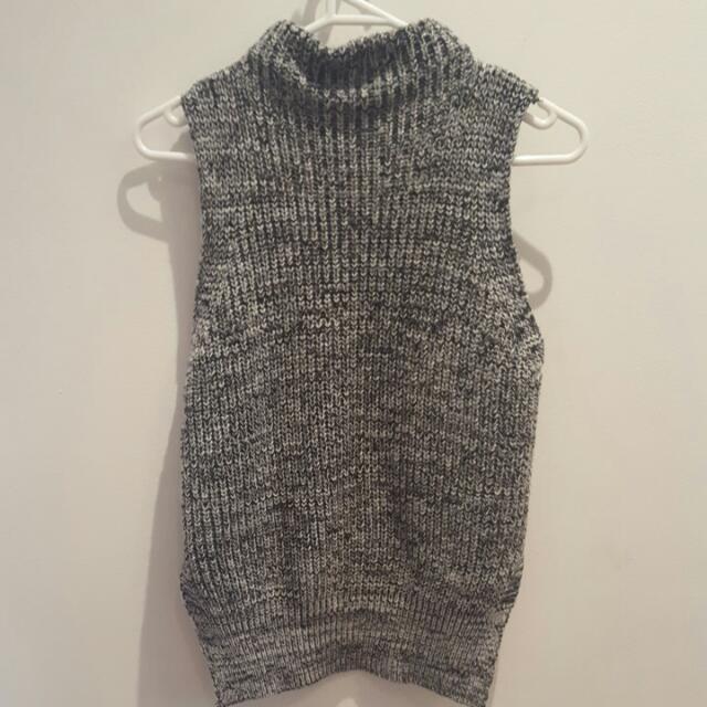 Grey Short Sleeve Knit