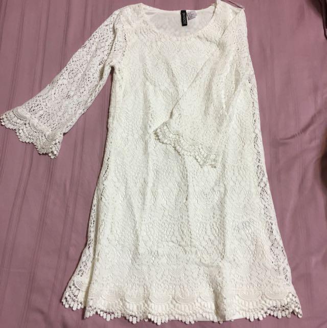 201914254bbc5 H&M Crochet Dress Size 32 (XS), Women's Fashion on Carousell