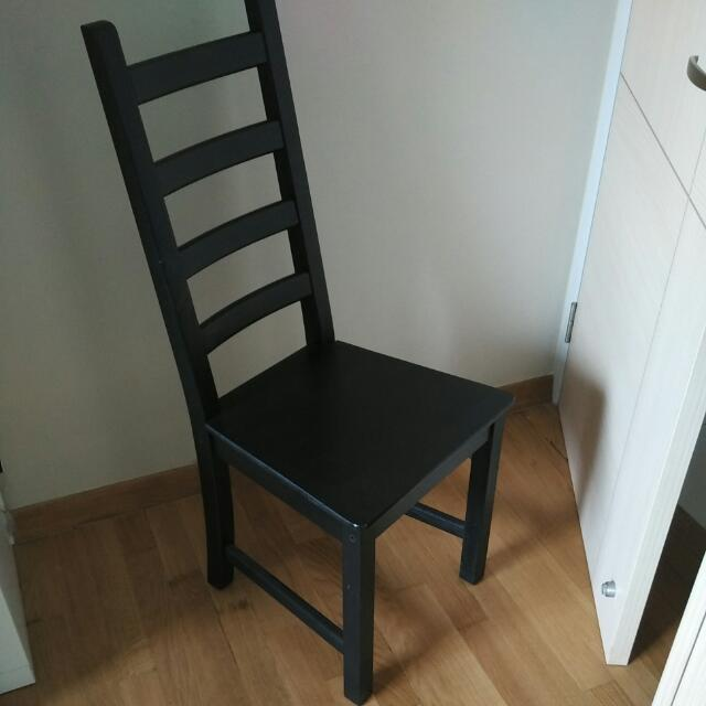 Ikea Kaustby Chair Black Colour Used Furniture On Carousell