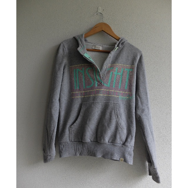 Ladies Insight Size 10 (S) Grey Hoodie Jumper Windcheater Logo