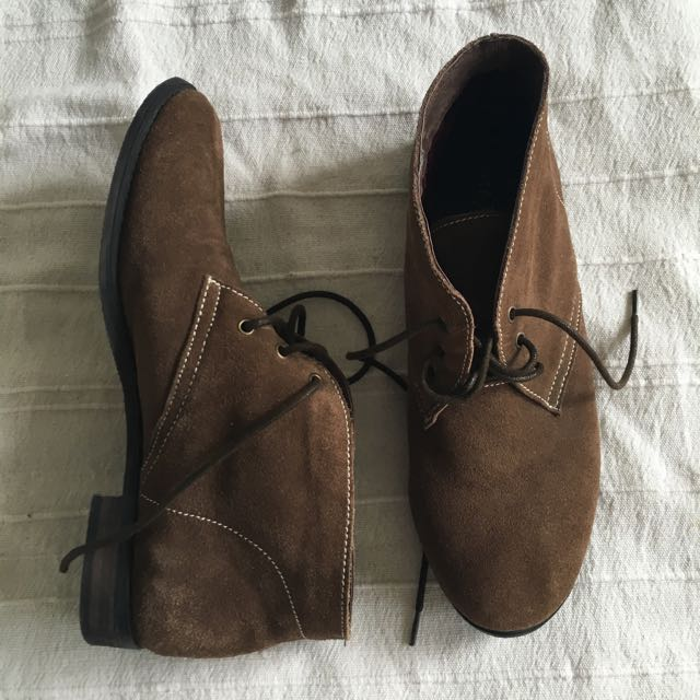 Leather Suede Desert Boots S39